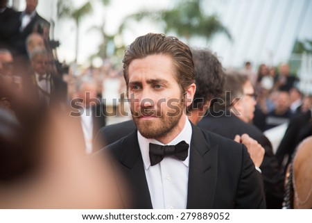 "Jacob Benjamin ""Jake"" Gyllenhaal. Opening Ceremony 'La Tete Haute' Premiere. 68th Annual Cannes Film Festival at Palais des Festivals on May 13, 2015 in Cannes, France. - stock photo"