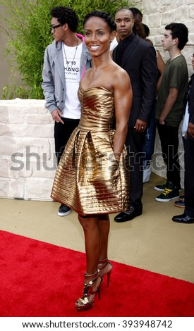 """Jada Pinkett Smith at the Los Angeles Premiere of """"The Karate Kid"""" held at the Mann Village Theater in Westwood, USA on June 7, 2010.  - stock photo"""