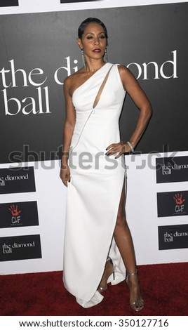 Jada Pinkett Smith at the 2nd Annual Diamond Ball held at the Barker Hanger in Santa Monica, USA on December 10, 2015. - stock photo