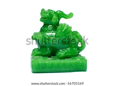 Jade dragon - stock photo