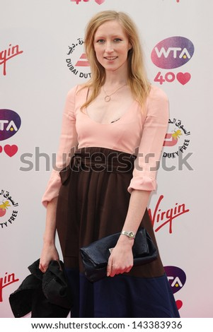 Jade Parfitt arriving for the WTA Pre-Wimbledon Party 2013 at the Kensington Roof Gardens, London. 20/06/2013 - stock photo