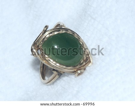 Jade Ring - stock photo
