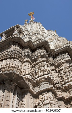 Jagdish Temple Hindu temple , Udaipur, Rajasthan - stock photo