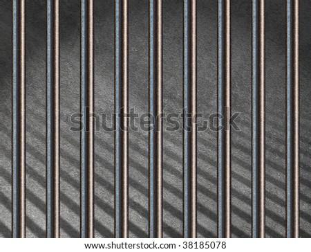 jail bars - stock photo