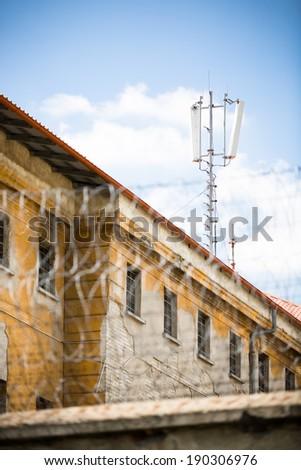 jail building - stock photo