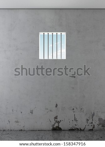 jail interior - stock photo