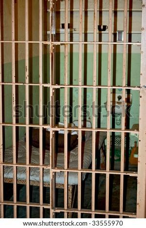 Jailcell at Alcatraz - stock photo