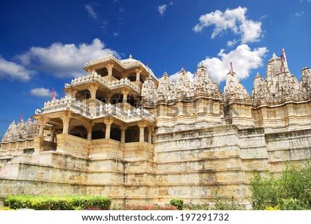 Jain Temple in Ranakpur,India  - stock photo