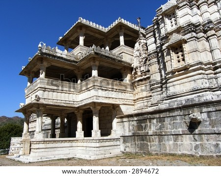 Jain Temple,Ranakpur,India - stock photo