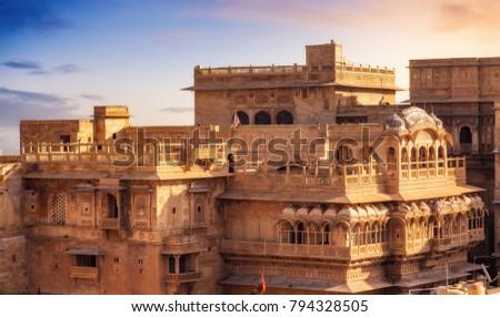 Jaisalmer Fort Yellow Limestone Architecture Jaisalmer ...
