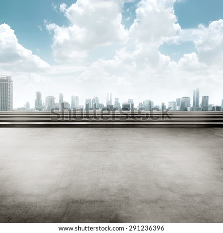 Jakarta city background square. You can put your design here - stock photo
