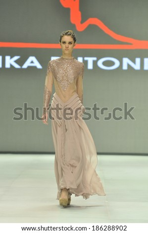 JAKARTA � February 20 � Ika Butoni Collections. Ika Butoni from Hong Kong showing her collection for Indonesia Fashion Week 2014 on February 20,2014 Jakarta, Indonesia