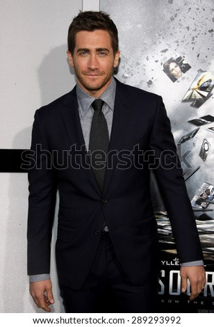 Jake Gyllenhaal at the Los Angeles premiere of 'Source Code' held at the ArcLight Cinemas in Hollywood on March 28, 2011.  - stock photo