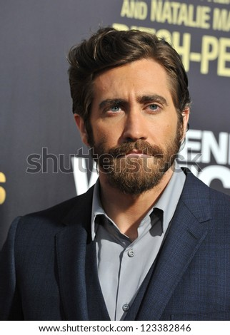 "Jake Gyllenhaal at the premiere of his movie ""End of Watch"" at the Regal Cinemas LA Live. September 17, 2012  Los Angeles, CA Picture: Paul Smith"