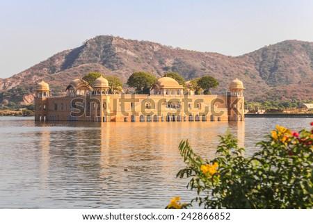Jal Mahal in Jaipur, The Water Palace in Man Sagar Lake, Rajasthan, India - stock photo