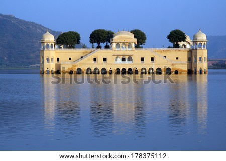 Jal Mahal (Water Palace) in Jaipur, India - stock photo