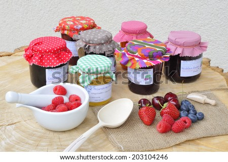 Jam boil from fresh fruits. - stock photo