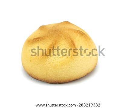 Jam filled cookies on a white background - stock photo