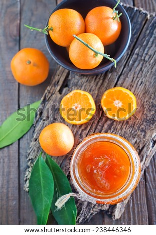 jam from citrus fruits - stock photo