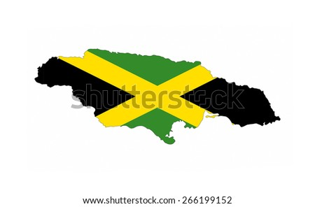 jamaica country flag map shape national symbol
