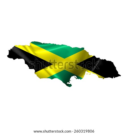 Jamaica Map - stock photo