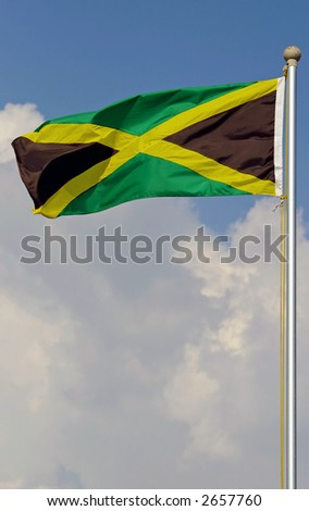 jamaican flag - stock photo