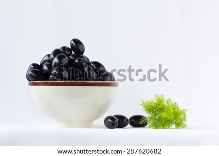 Jambul or Jamun (Syzygium cumini) on the cup white background. - stock photo