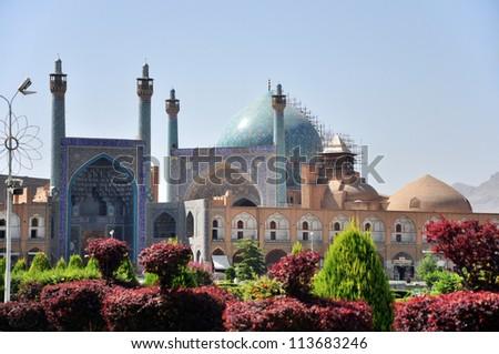 Jameh Mosque in Esfahan (Isfahan) - Iran - stock photo
