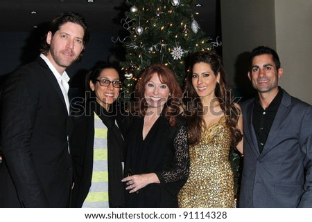 James Barbour, Julie Kasem, Linda Kasem, Mike Kasem, Kerri Kasem at the James Barbour Holiday Concert, Renaissance Hotel, Hollywood, CA 12-16-11 - stock photo