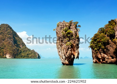 James Bond Island on Phang Nga Bay, Thailand - stock photo