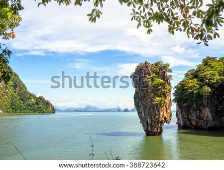 James Bond island, Thailand - stock photo