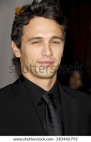 James Franco at 12th Annual Hollywood Film Festival Awards Gala, Beverly Hilton Hotel, Beverly Hills, CA, October 27, 2008  - stock photo