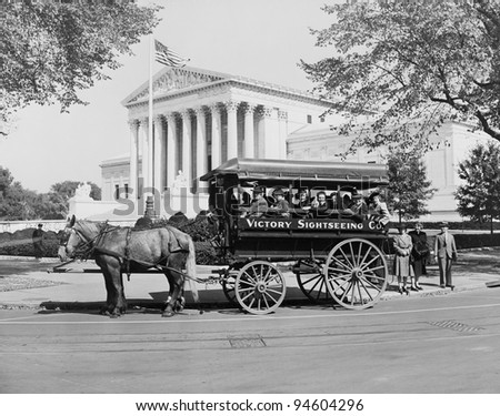 James J. Grace, sightseeing guide in Washington D.c. since 1897, circa 1942 - stock photo