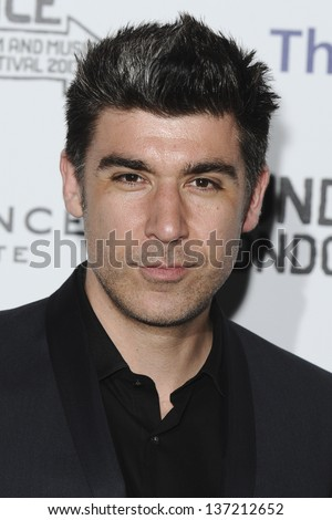 """James Lance arriving for a """"The Look of Love"""" screening as part of the Sundance London Festival 2013 at the O2, Greenwich, London. 26/04/2013 - stock photo"""