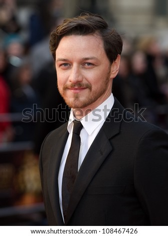 James Mcavoy arrives for the Olivier Awards 2012 at the Royal Opera House, Covent Garden, London. 15/04/2012 Picture by: Simon Burchell / Featureflash - stock photo