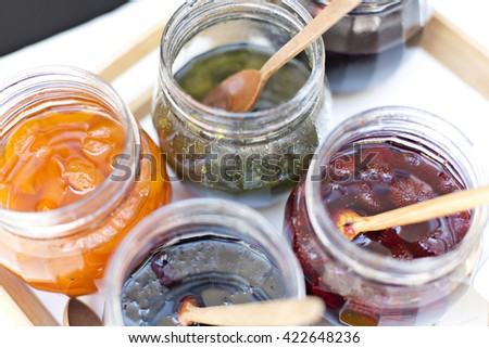 Jams in the Jar  - stock photo
