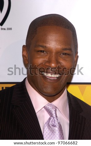 Jan 10, 2005; Los Angeles, CA:  Actor JAMIE FOXX at the 10th Annual Critcs' Choice Awards at the Wiltern Theatre, Los Angeles. - stock photo
