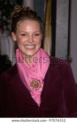 Jan 23, 2005; Los Angeles, CA: Actress KATHERINE HEIGL at ABC TV's All Star Party on the Desperate Housewive lot at Universal Studios, Hollywood. - stock photo