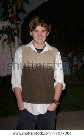 Jan 23, 2005; Los Angeles, CA: Desperate Housewives star CODY KASCH at ABC TV's All Star Party on the Desperate Housewive lot at Universal Studios, Hollywood. - stock photo