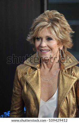 "Jane Fonda at the Los Angeles premiere for HBO's new series ""The Newsroom"" at the Cinerama Dome, Hollywood. June 21, 2012  Los Angeles, CA Picture: Paul Smith / Featureflash - stock photo"