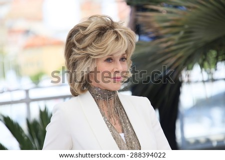 Jane Fonda attends the 'Youth' Photocall during the 68th annual Cannes Film Festival on May 20, 2015 in Cannes, France. - stock photo
