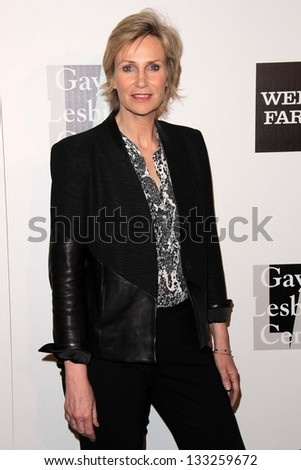 Jane Lynch at the L.A. Gay And Lesbian Center Hosts 'An Evening' honoring Amy Pascal and Ralph Ricci, Beverly Wilshire, Beverly Hills, CA 03-21-13 - stock photo