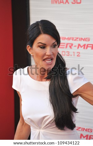 """Janice Dickinson at the world premiere of """"The Amazing Spider-Man"""" at Regency Village Theatre, Westwood. June 29, 2012  Los Angeles, CA Picture: Paul Smith / Featureflash - stock photo"""