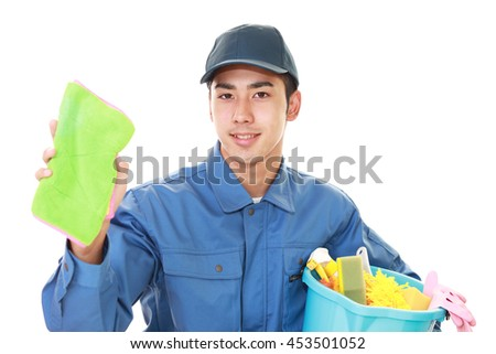 Janitorial cleaning service - stock photo