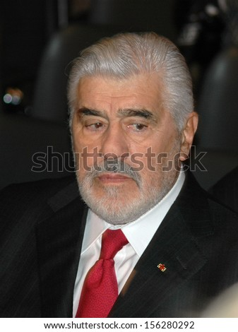 JANUARY 19, 2005 - BERLIN: Mario Adorf at the official start of the Albert Einstein Year in the German Historical Museum in Berlin.