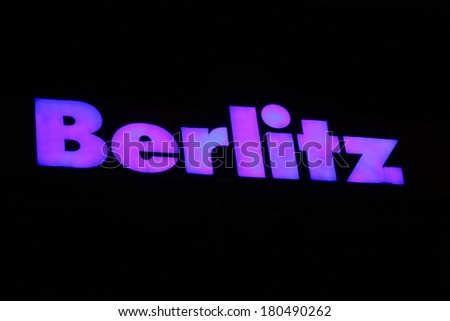 "JANUARY 28, 2014 - BERLIN: the logo of the brand ""Berlitz"", Berlin."