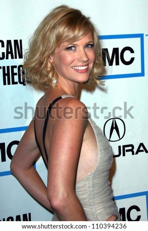 January Jones at The 22nd Annual American Cinematheque Awards honoring Julia Roberts. Beverly Hilton Hotel, Beverly Hills, CA. 10-12-07 - stock photo