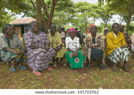 "JANUARY 2007 - ""Women without Husbands"" women who have been ostracized from society or who have lost their husbands and only have themselves as a group to look after each other in Meru, Kenya, Africa"