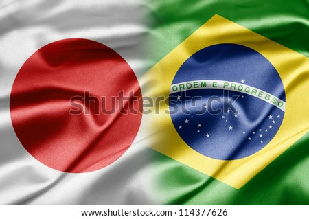 Japan and Brazil - stock photo