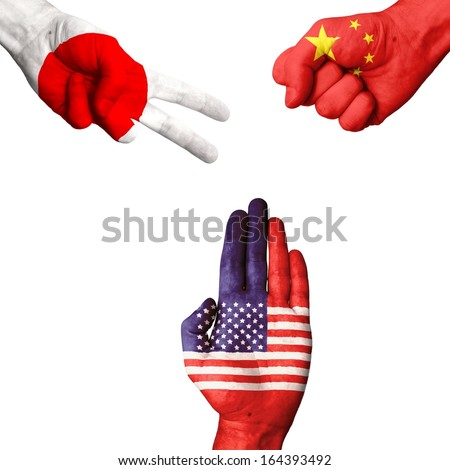 Japan China USA rock-paper-scissors